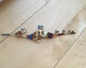 Weedy Sea Dragon Seahorse for the wall - stainless steel