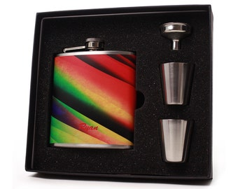 Flask Gift Set // Personalized 6oz Flask