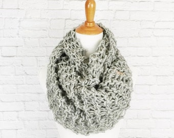 PRE-FALL SALE Infinity Scarf Knit Scarf Circle Scarf Cowl Wrap Warmer // The Snood