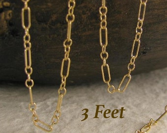 Gold Filled Cable Chain Long Short - 3 ft - CH23