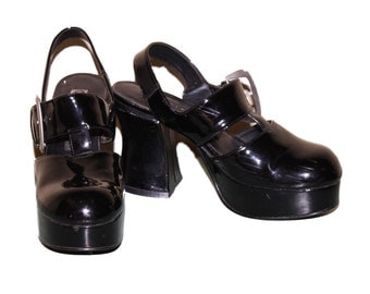 1990s Club Kid Patent Leather Size 7