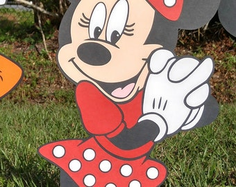 Red Minnie Mouse Photo Prop - Decoration Stand Up - standee - Party Prop, Disney Decor Mickey Mouse