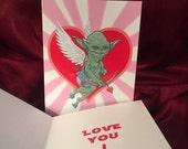 STAR WARS Yoda Valentine's Day Card