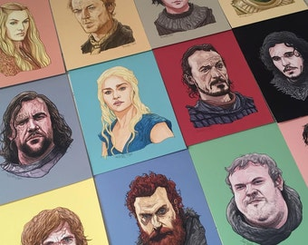 "GAME of THRONES 5x7"" Print Set of 12"