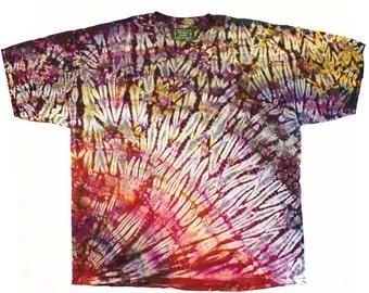 XXXL Shibori Men's Tie Dye T Shirt Earthy Browns Hand Dyed