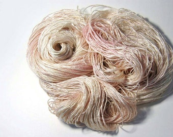 Pure Silk FINGERING in Peach Blossom - One of a Kind