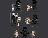 Father of the Year TEE, Unisex/Ladies, Star Wars, fatherhood, cute, kids, Darth Vader and kids, FREE SHIPPING