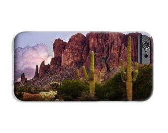 Phone Case, Superstition Mountains Saguaro, Arizona, fine art image