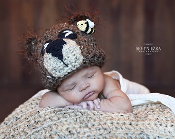 Bears and the Bees Newborn Hat