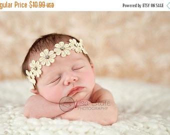 10% off SALE SALE 10.99 normall 13.50 Baby headband, newborn headband, adult headband, child headband photography prop Daisy rhinestone spri