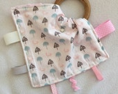 Foxes and Toadstools Teething Taggie - Perfect Baby Shower Gift!