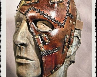 Leather half mask - Wild -