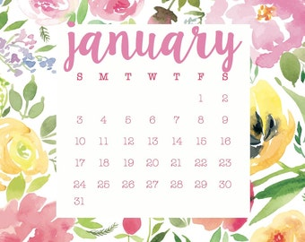 Printable Desktop Calendar 2016