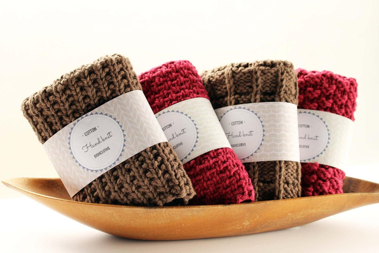 PDF Printable Hand Knit Dishcloth Label Printable Dishcloth