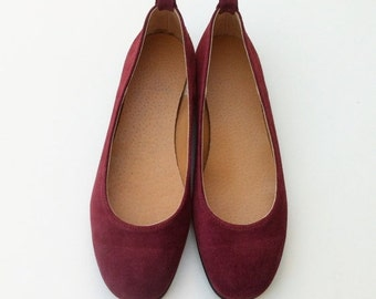 SUMMER SALES ballet flats, red shoes, women shoes / leather shoes / flat shoes