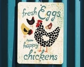 "Fresh Eggs from Happy Chickens 9"" X 12"" Seaport Collection. SKU: SN912643"