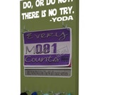 running, Race Bib Holder and medal hanger - Star Wars inspired - Master Yoda quote - Do, or do not. There is no try.