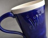 Jill Coffee Mug Ready To Ship Coffee Tea Mug by Symmetrical Pottery