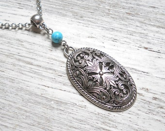 bohemian necklace pendant necklace boho necklace boho jewelry turquoise jewelry turquoise pendant necklace turquoise bohemian necklace