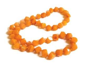 "Baltic Amber Antique Butterscotch Necklace Faceted Beads Yolk Caramel 17.5"" 13.4 gram"