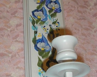 Hand Painted Wall Sconce candle Holder