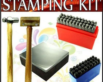2mm Lower case & Upper case Stamping Kit w/ 4 oz Hammer JSET61051