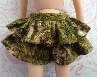 Tree Skort ~~ Skort/Shorts/Skirt for Blythe doll ~~ Skort ONLY ONE piece