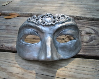 Tin man or woman mask, Masquerade, Costume mask, carnival, custom made, color choices, Mardi Gras, New Orleans, Masked Ball,