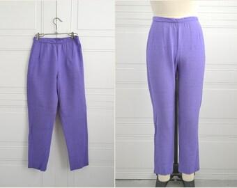 1960s Alex Colman Purple Cropped Pants