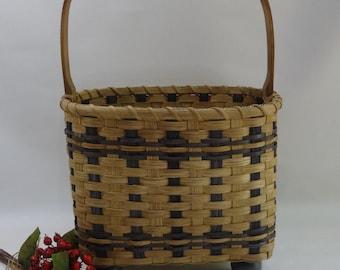 Chairside Magazine Basket / Storage Basket / Handwoven Basket