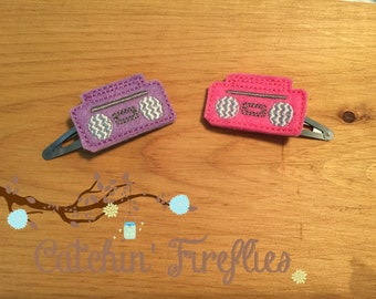 80's boombox clips for hair!