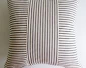 Ticking Throw Pillow Cover Black Stripe - Rustic Modern Farmhouse Pillow