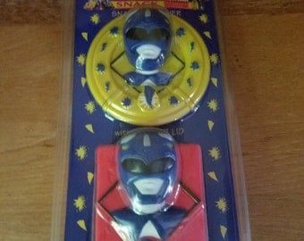 Power Rangers New Sealed Snack Set & Juice Box Container 1994 Rare