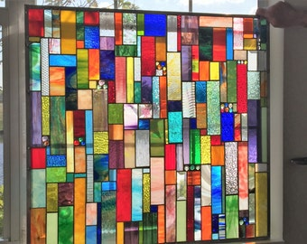 COLORFUL Stained Glass Panel Custom Ordered