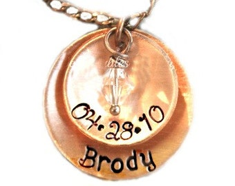 Hand Stamped Jewelry - Hand Stamped necklace - Copper Jewelry