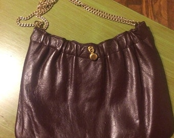 Vintage Ande Purse. Brown Leather Purse. Brown Ande Purse
