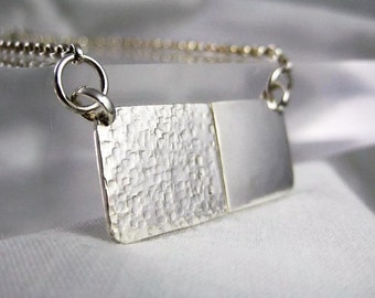 Sterling Silver Rectangular Necklace - CMcB Jewellery
