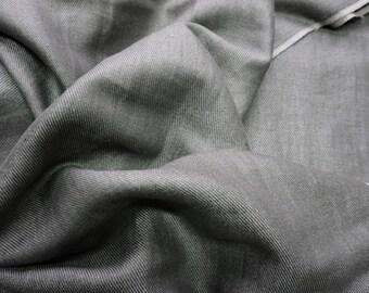 Natural linen fabric Gray melange --Linen--Natural- Luxury
