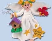 Angelina Angel HANDMADE Polymer Clay Personalized Christmas Ornament