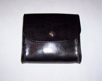 Hand Made Black Leather Belt Bag