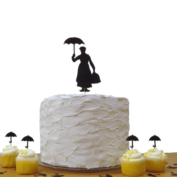 Mary Poppins Cake Topper, Baby Shower Cake Topper, Birthday Party Decoration