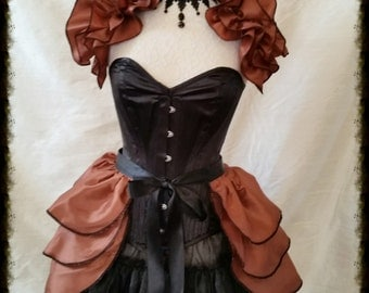 Sale Steampunk  Gorgeous  Bustle Skirt  and Shrug SET