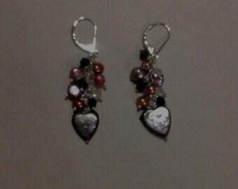 Freshwater pear earrings