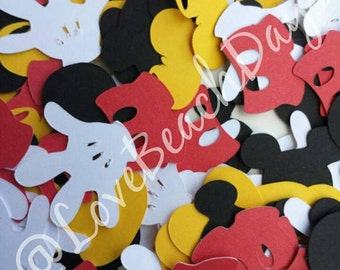 Disney Mickey Mouse Confetti:  300 Disney Mickey Mouse Custom Confetti Pieces, Scrapbooking, Birthday, Table Decor