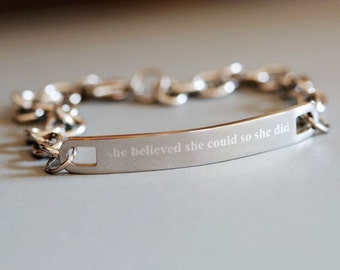 Personalized Jewelry - Girlfriend Gift,  Personalized Bracelet ,Mother of the Bride, Groom, Wedding Jewelry,Friend Gift,  Women's Gift