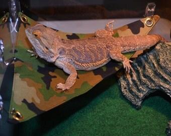 bearded dragon hammock bed military camo bearded dragon hammock bed blue real tree camo  rh   etsy