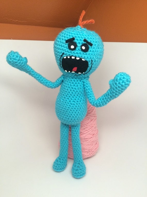 Amigurumi Rick And Morty : Rick and Morty Inspired Doll / Crochet Mr. Meeseeks Plush Toy