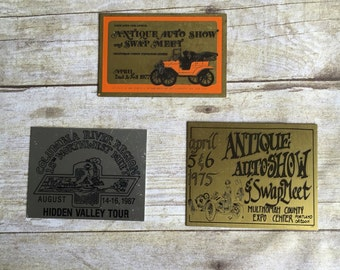 Vintage Antique Auto Show Plaques - Metal Sign - Portland Oregon - 70's - 80's