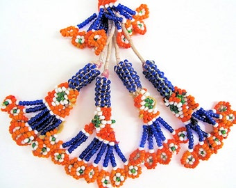 Glass Bead Tassel Necklace from Afghanistan