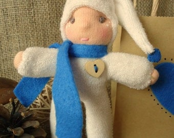 A Waldorf Inspired Just Because Gnome Toy Gift- Blue